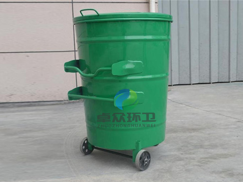 240l圆形铁垃圾桶_潍坊卓众环卫设施有限公司